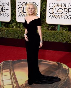 lady gaga gown golden globes 2016